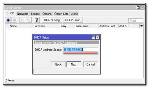 Установка DHCP