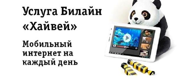Услуга Билайн Хайвей — мобильный интернет на каждый день