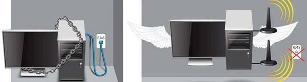 Компьютер без вайфая и с ним