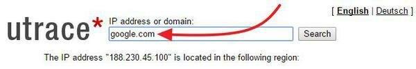 Напечатать адрес сайта