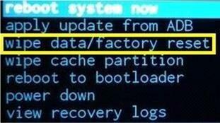 «wipe data/factory reset»