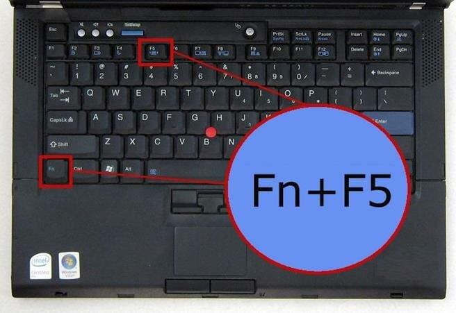 Комбинация Fn + F5